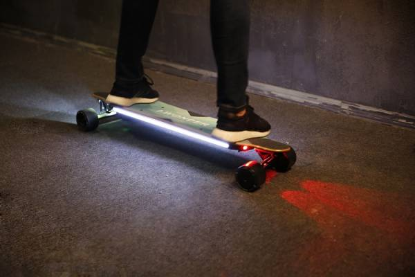 IWONDER SKE2 Electric Skateboard Led Lights Longboard with Dual Hub Motors  eBay