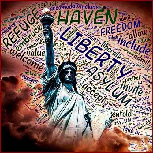 Liberty Refuge Freedom Patriotic Usa Vinyl Sticker Decal