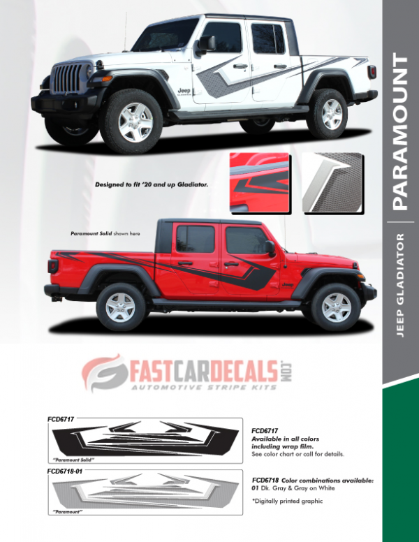 2020 Jeep Gladiator Paramount Side Stripes