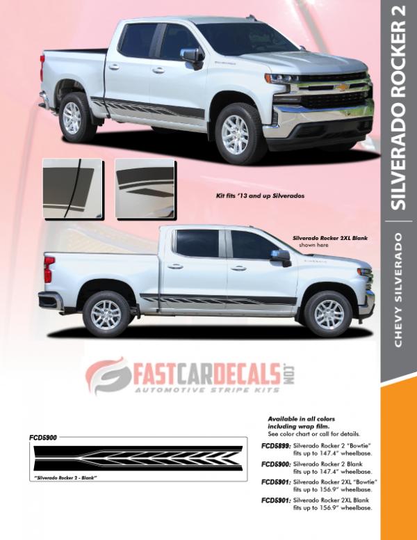 2021 Chevy Silverado Lower Stripes SILVERADO ROCKER 2 2019-2021