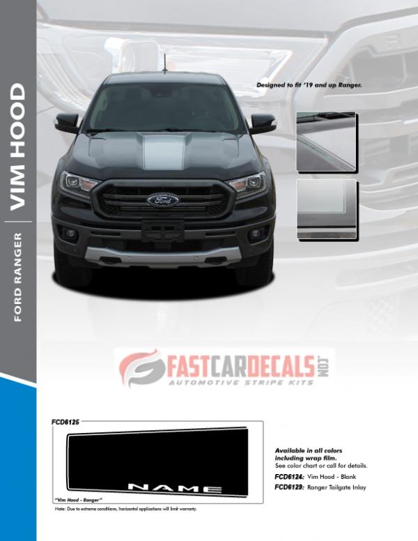 2019-2020 Ford Ranger VIM Hood Stripes