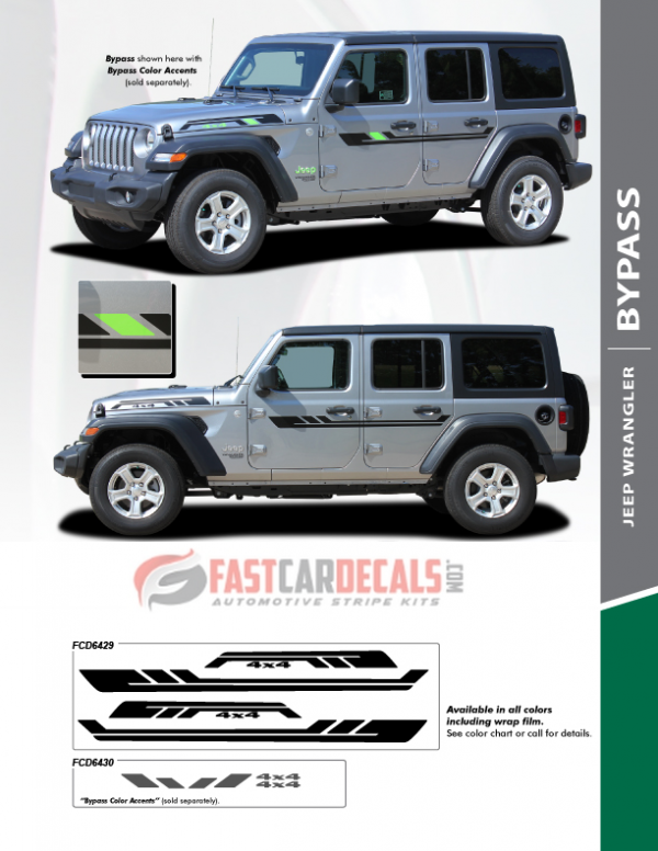 Jeep Wrangler BYPASS Side Stripes