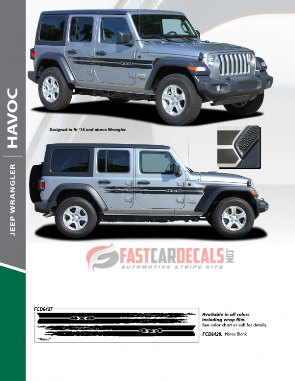 2019-2020 Jeep Wrangler HAVOC Side Stripes