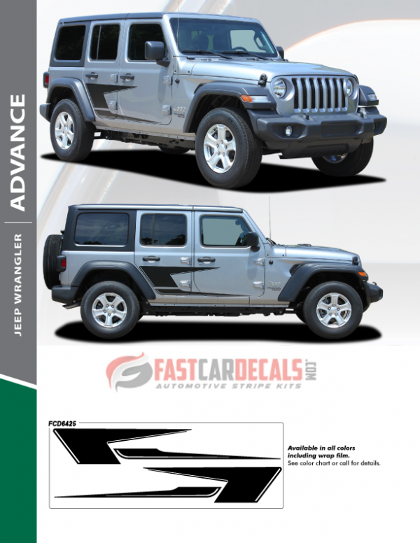 2018-2020 Jeep Wrangler ADVANCE Side Graphics