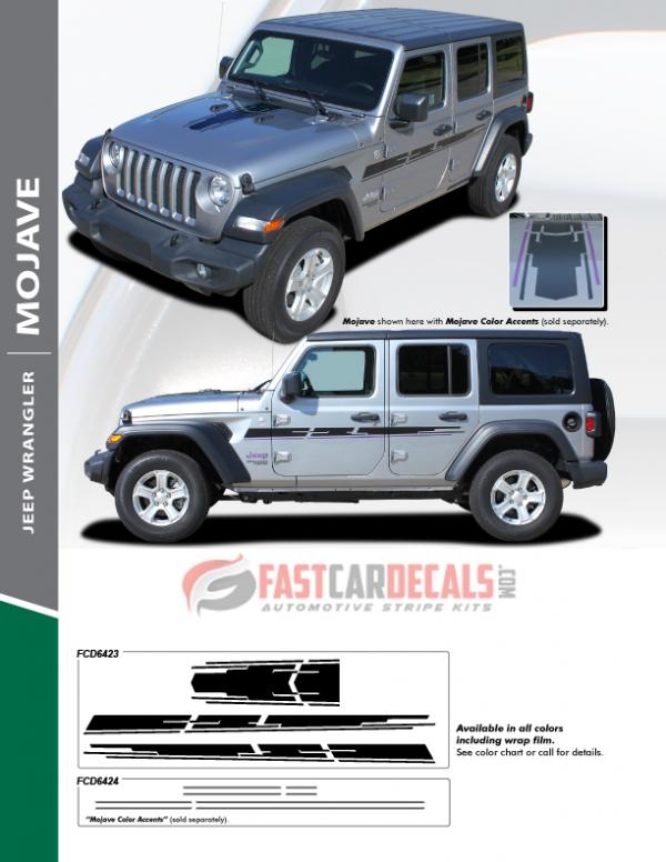 2018-2020 Jeep Wrangler MOJAVE Stripes