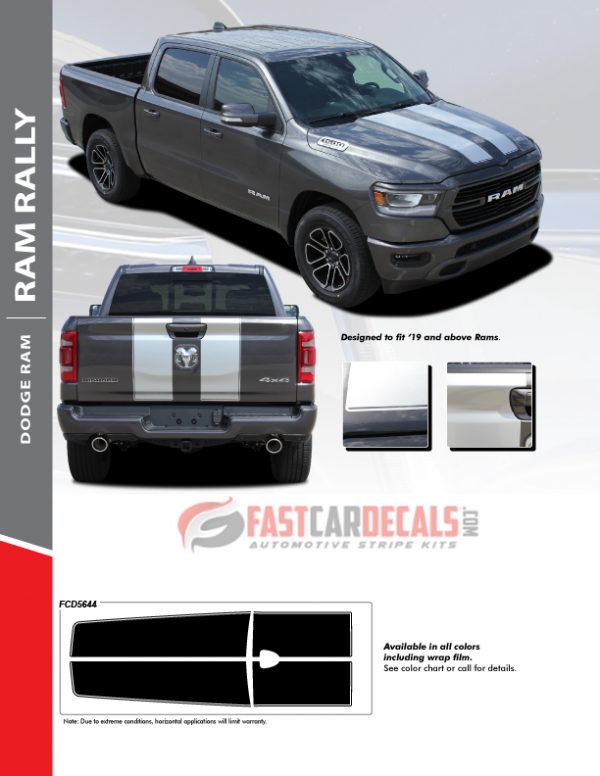 2019-2020 Ram 1500 Rally Racing Stripes