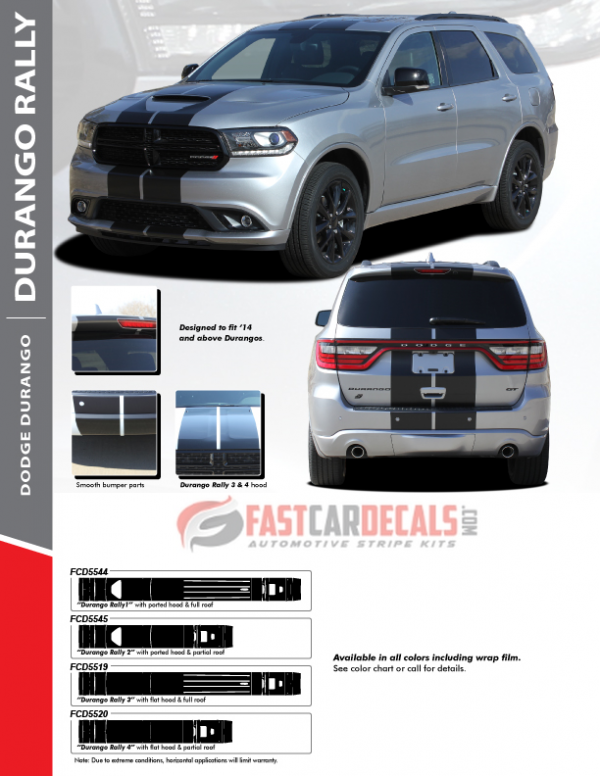 2014-2020 Dodge Durango RALLY Stripes