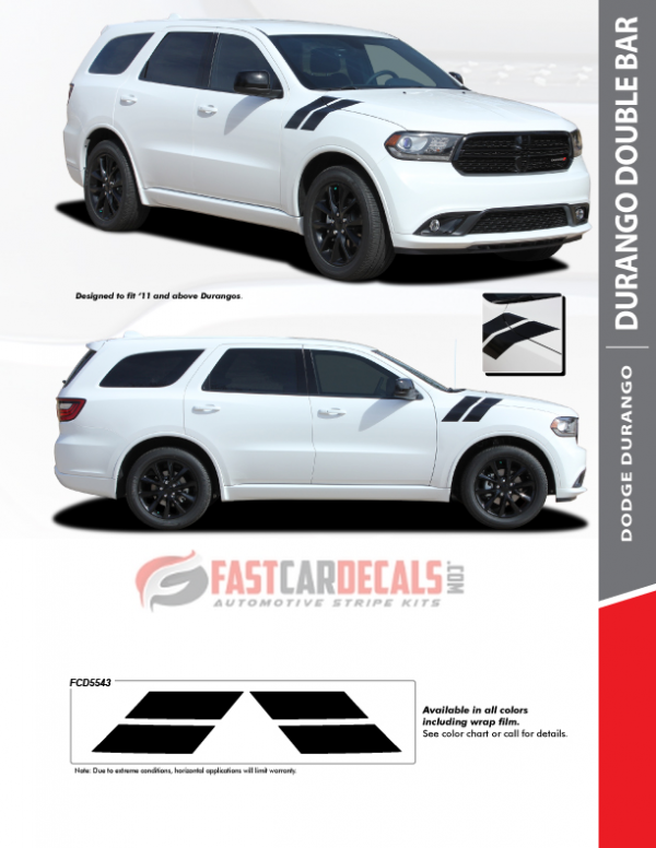 2011-2020 Dodge Durango DOUBLE BAR Stripes