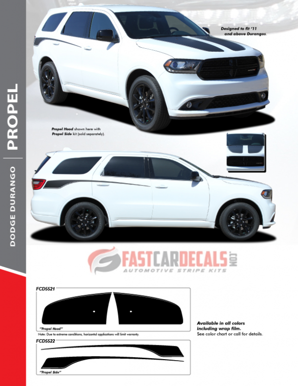 2011-2020 Dodge Durango PROPEL Hood & Side Stripes
