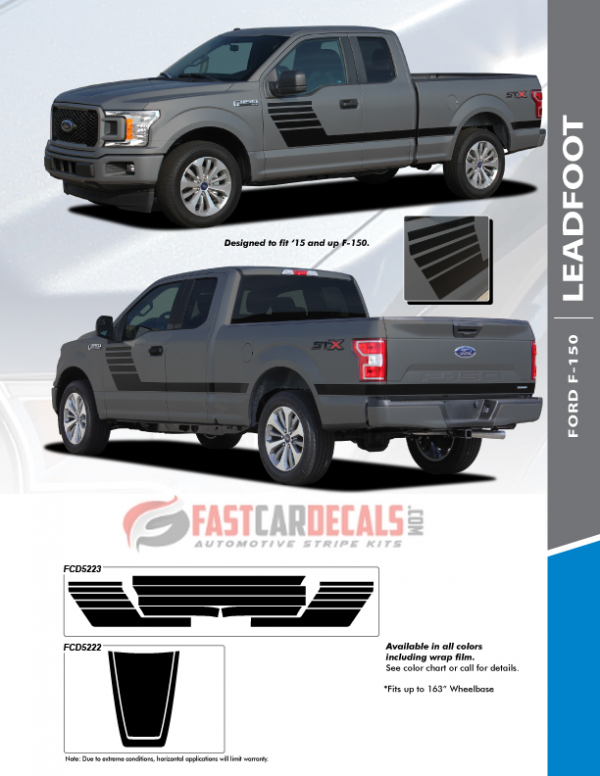2019 Ford F150 Vinyl Graphics LEADFOOT 2015-2020