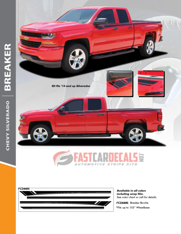 2014-2018 Chevy Silverado BREAKER Upper Stripes
