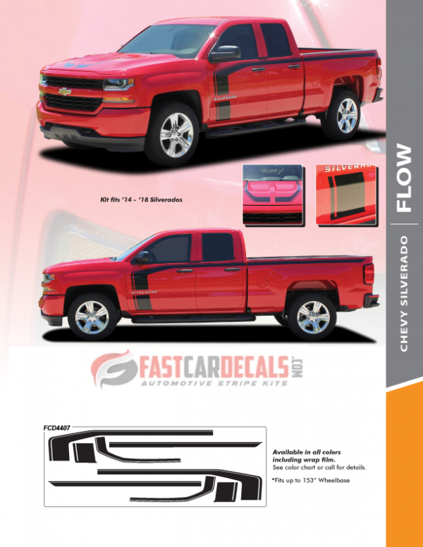 2018 Chevy Silverado 1500 Stripes FLOW KIT 2016 2017 2018