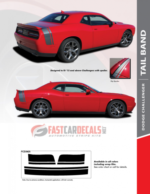 2018 Dodge Challenger Stripe Options TAIL BAND 2015-2021