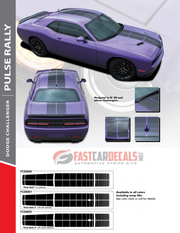 2008-2020 Dodge Challenger PULSE RALLY Stripes
