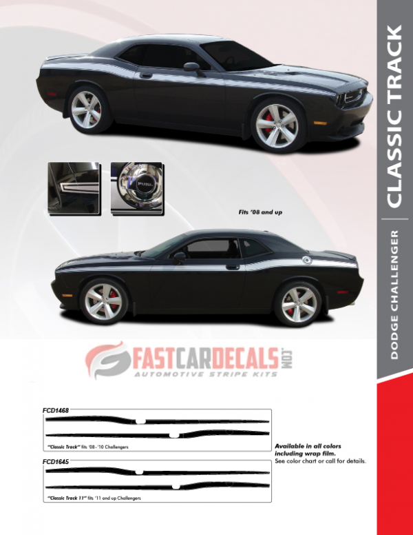 2008-2020 Dodge Challenger CLASSIC TRACK Stripes