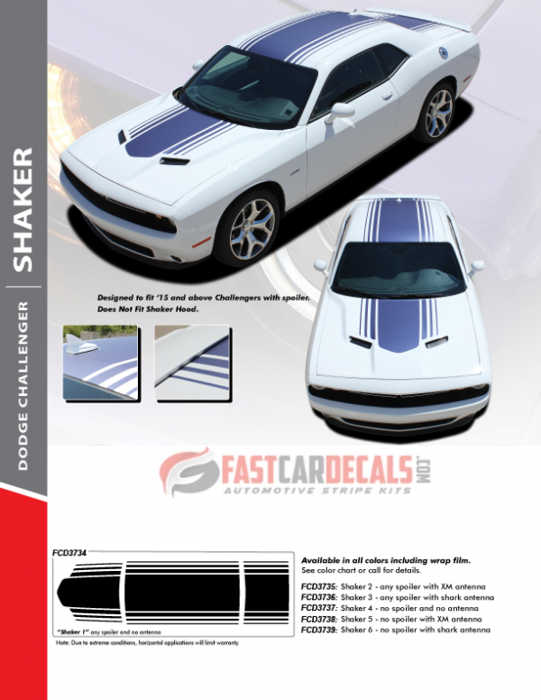 Dodge Challenger Shaker Style Stripes SHAKER 2015-2021