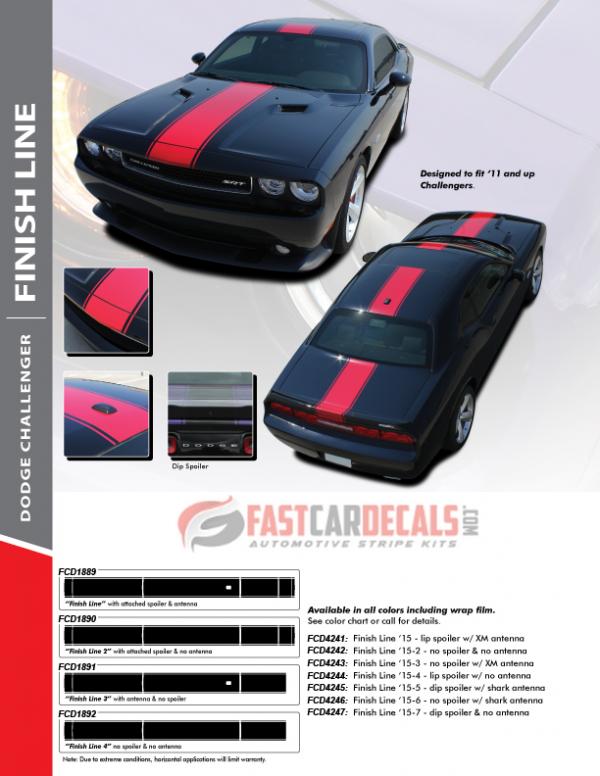 2011-2020 Dodge Challenger FINISH LINE Stripes