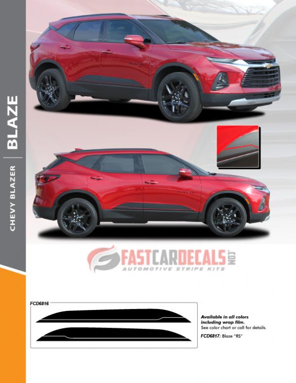 BLAZE ROCKER   2019-2021 Chevy Blazer Stripes