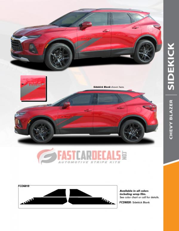 SIDEKICK   2019-2021 Chevy Blazer Door Stripes