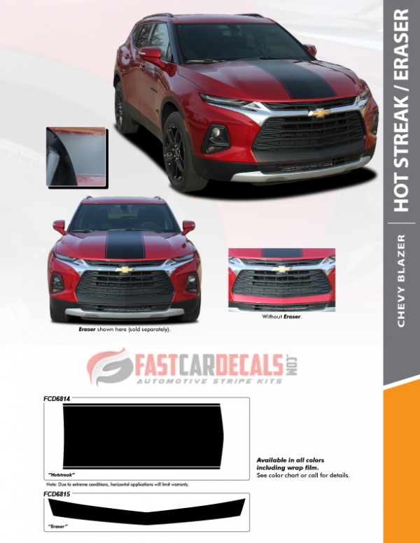 2019-2020 Chevy Blazer HOT STREAK HOOD or ERASER BUMPER GRAPHIC