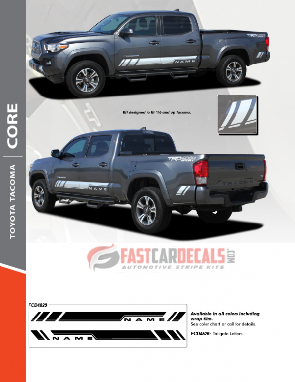 2019 Toyota Tacoma Lower Stripes CORE 2016 2017 2018 2019 2020 2021