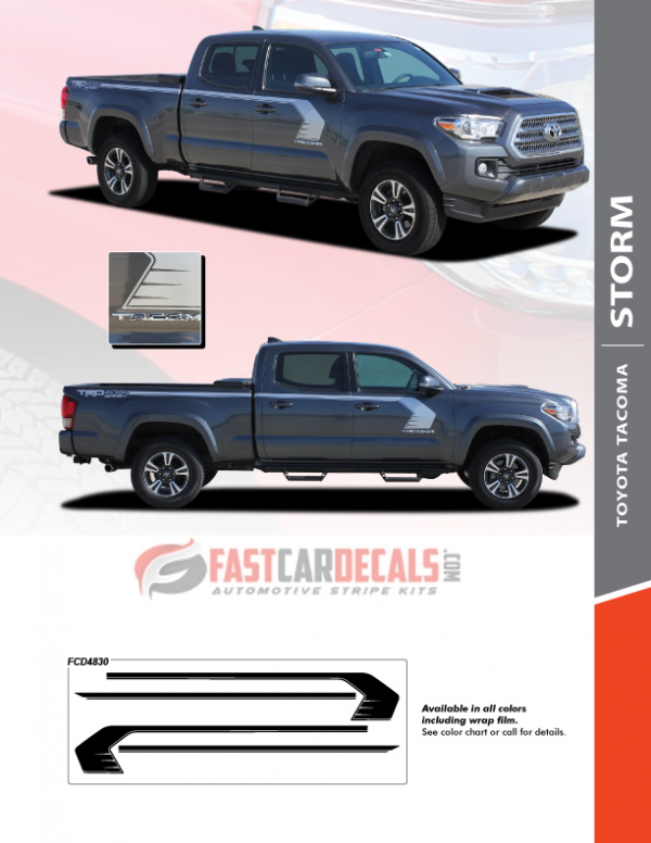 Toyota Tacoma STORM Side Stripes