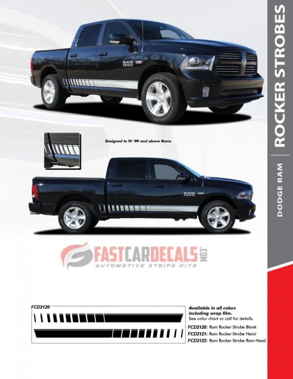 2009-2018 Dodge Ram 1500 ROCKER STROBE Stripes