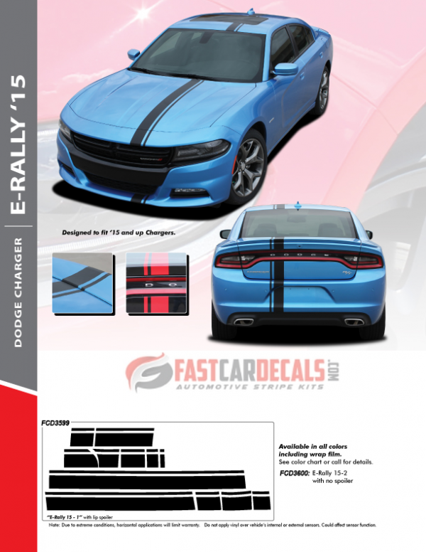 2015-2020 Dodge Charger E RALLY Stripes