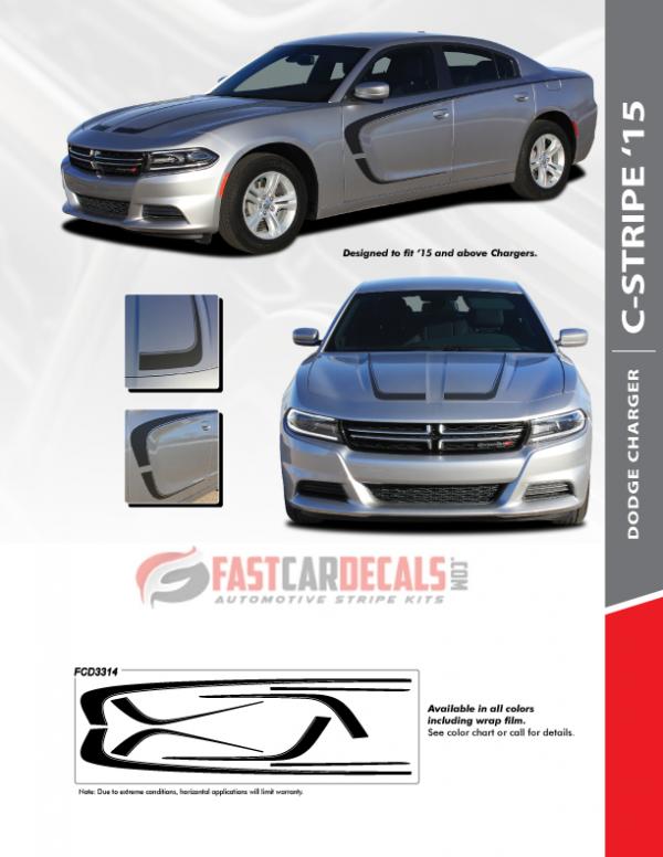 C Stripe 15 : Dodge Charger Hood and Side Stripes 2015-2021