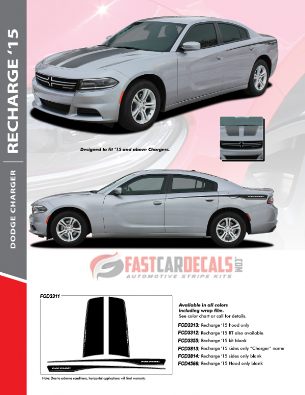 2015-2020 Dodge Charger RECHARGE 15 Stripes