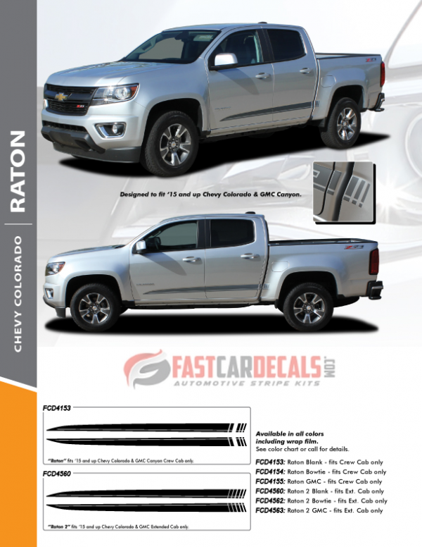 2015-2020 Chevy Colorado RATON Rocker Stripes