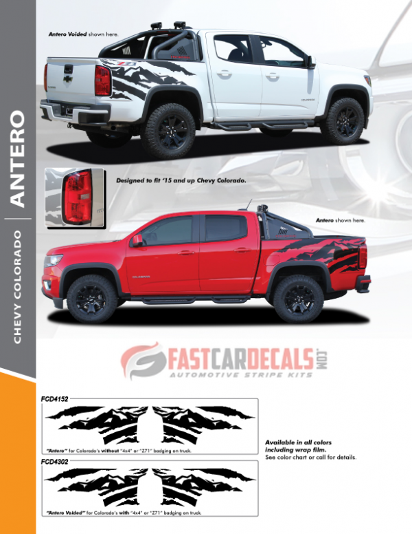 2015-2020 Chevy Colorado ANTERO Side Graphics