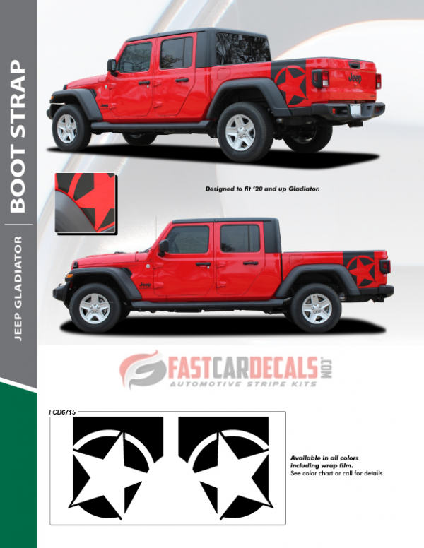 2020-2021 Jeep Gladiator BOOTSTRAP Stripes