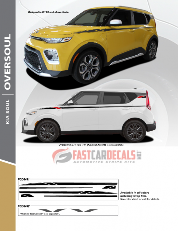 2021-2020 Kia Soul Side Decals OVERSOUL