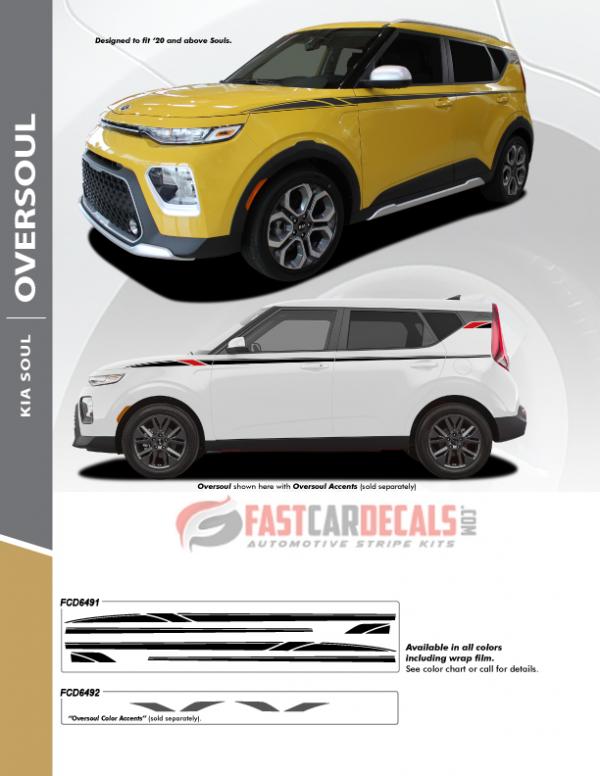 2020 Kia Soul OVERSOUL Stripe Kit