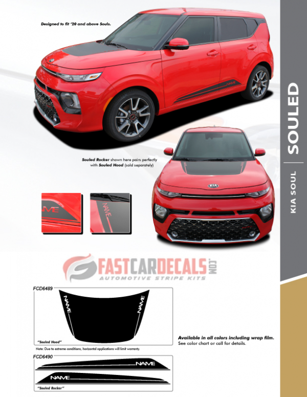 2020 Kia Soul SOULED Hood and Rocker Stripes
