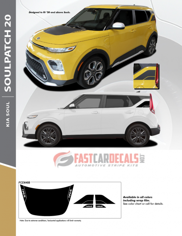2020 Kia Soul SOULPATCH 20 Stripe Kit