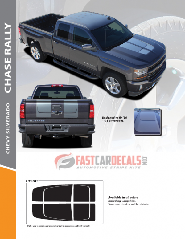 2016-2018 Chevy Silverado CHASE RALLY Stripes