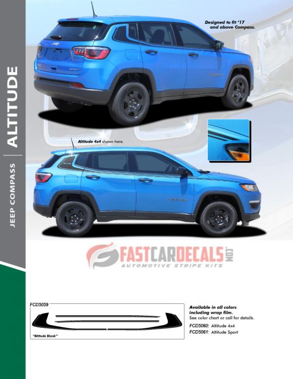 2018 Jeep Compass Stripes ALTITUDE 2017 2018 2019 2020 2021