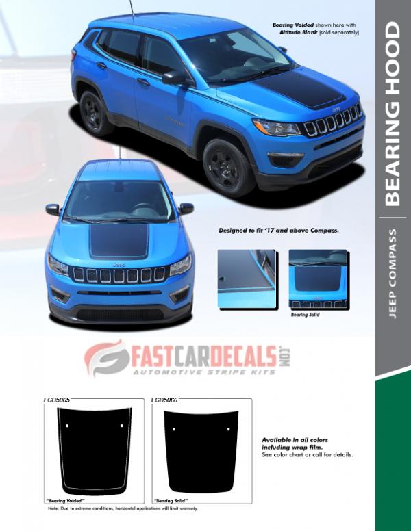 2017-2020 Jeep Compass BEARING HOOD Stripes