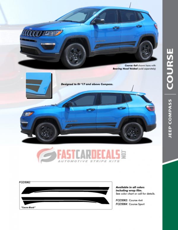 2018 Jeep Compass Graphics COURSE ROCKER 2017-2020 2021