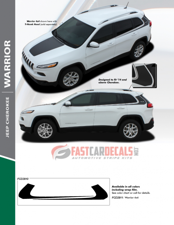 2020 Jeep Cherokee Side Stripes WARRIOR 2014-2018 2019 2020 2021