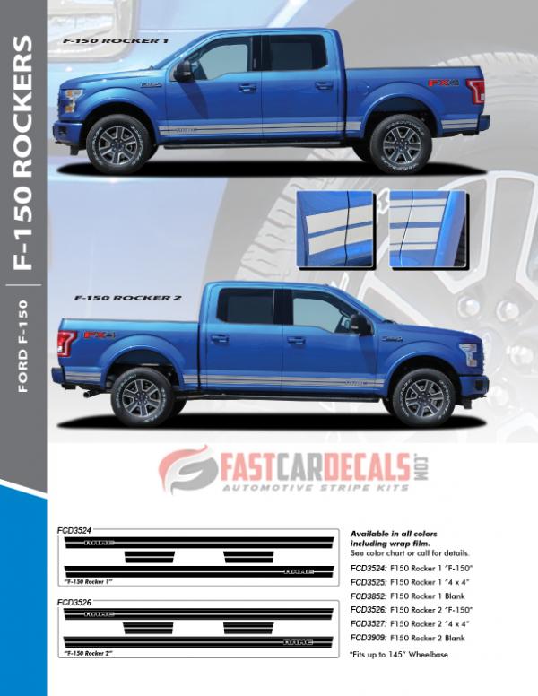 2021 Ford F150 Rocker Stripes 15 150 ROCKER 2 2015-2020 & 2021