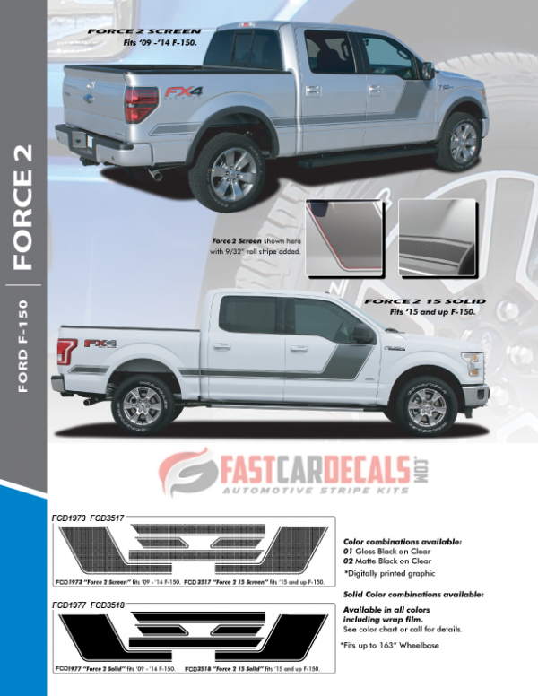 2019 Ford F150 Digital Side Graphics 15 FORCE 2 2015-2020 2021