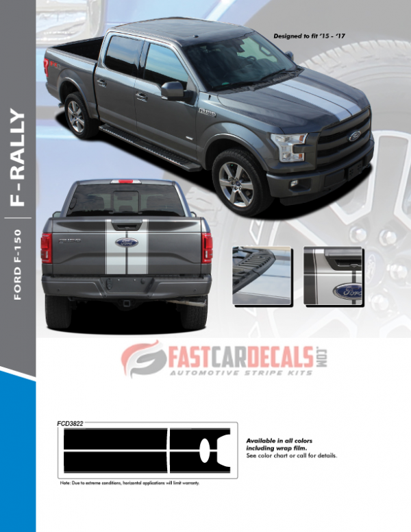 2015-2017 Ford F150 F-RALLY Stripes