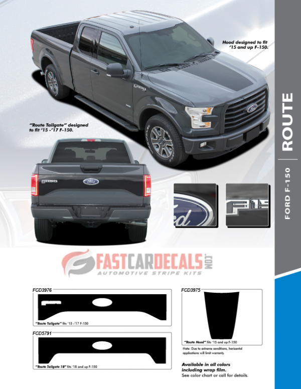 Ford F-150 Route Hood & Tailgate Stripes