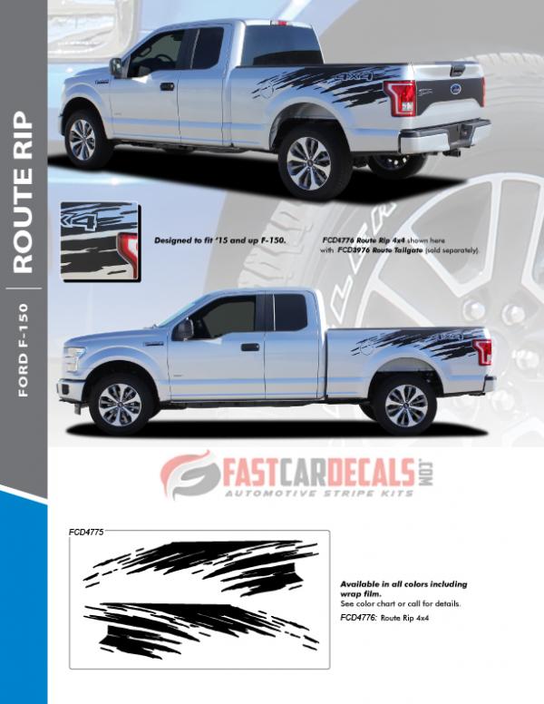 2020 Ford F150 Stripe Graphics ROUTE RIP 2015-2018 2019 2020 2021
