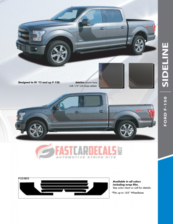 2015-2020 Ford F150 SIDELINE Stripes