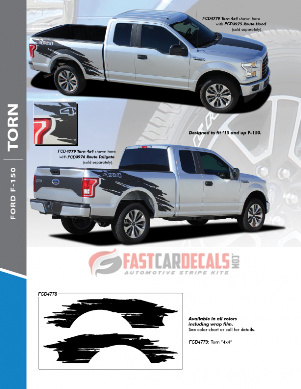 2019 Ford F150 Side Stripes TORN 2015 2016 2017 2018 2019 2020 2021