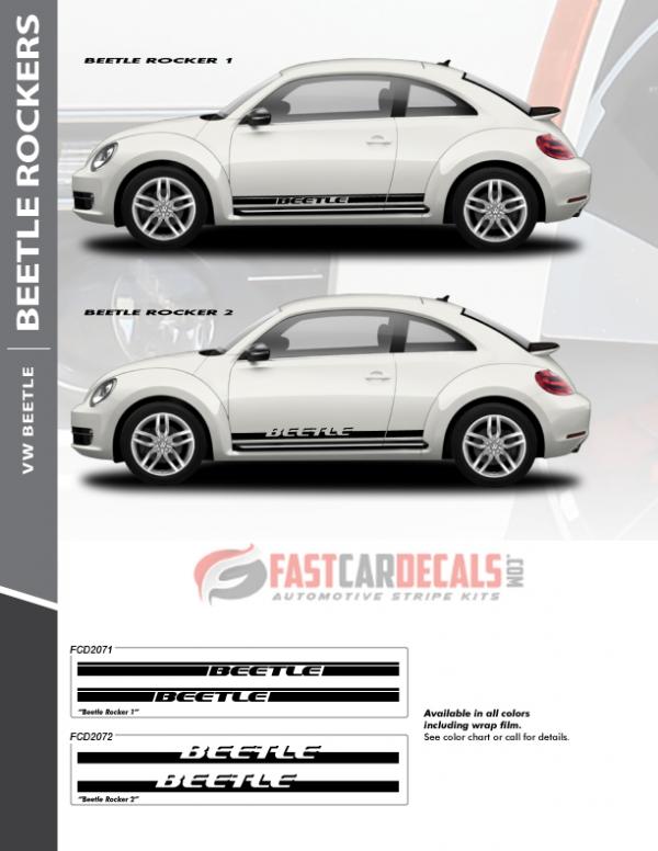 VW Beetle Graphics ROCKER 1 2012-2014 2015 2016 2017 2018 2019 2020